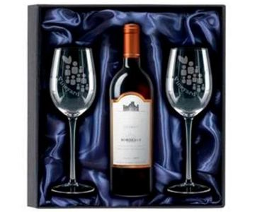 red wine gift set, wine gift personalised tidworth