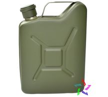 Jerry Can Hipflask, available in khaki and silver, engravable gift