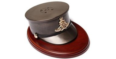 Roayl artillery gift presentation cap 105mm cart case engraved personalised gift