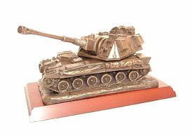 AS90 Warrior 510  in bronze resin ,leaving gift, engraved the royal artillery british Army