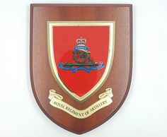 Royal_artillery_wooden_shield_plaque_military_plaque_engraved_tidworth_reads_gifts_and_services_gift