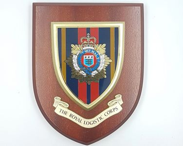 Royal_logistic_corps_wooden_shield_plaque_military_plaque_engraved_tidworth_reads_gifts_and_services