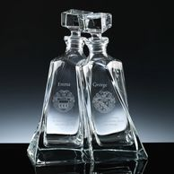 entwined lovers decanters glass giftware personalised tidworth