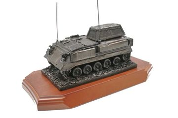 Army passing out gifts. bronze resin army vehicles.