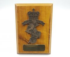 royal_electrical_mechanical_engineers_REME_plaque_wooden_shield_military_presentation_regimental