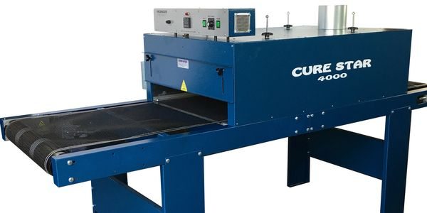 Screen Printing Conveyor Dryer, Curestar4000 24 inch wide belt, 8 ft conveyor dryer