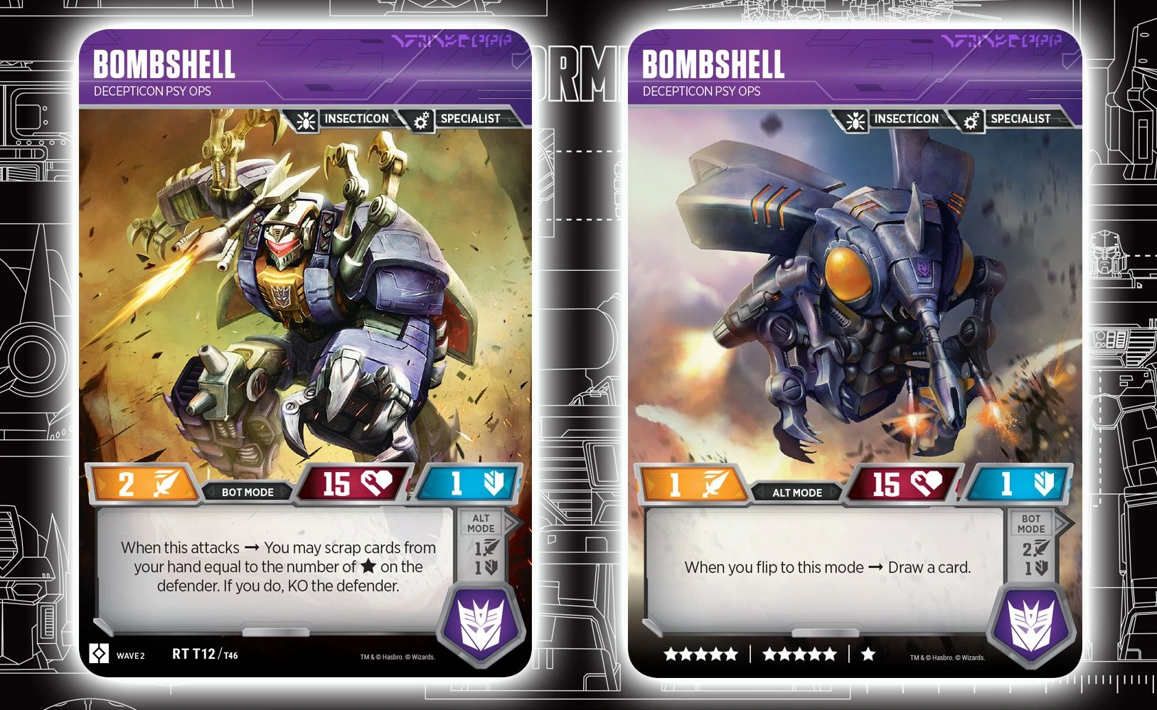 Transformers News: New Starscream Card Revealed For Official Transformers Trading Card Game And In-depth Analysis