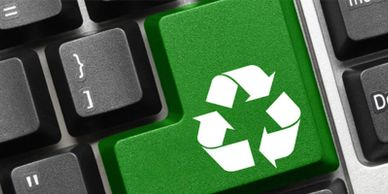 recycle old computers old laptop destroy hard drive ewaste recycle old cellphones safe environment