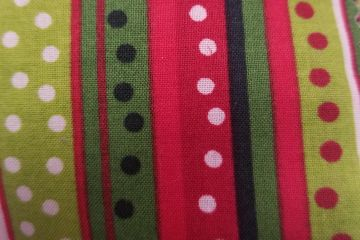 Christmas stripes swatch for Groomer Ties