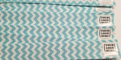 Light blue chevron finished sample for Groomer Ties
