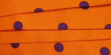 Orange with purple polka dots swatch for Groomer Ties