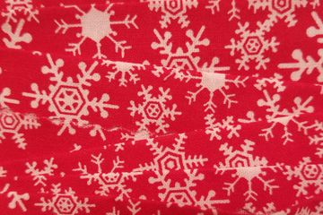 Red snowflakes swatch for Groomer Ties
