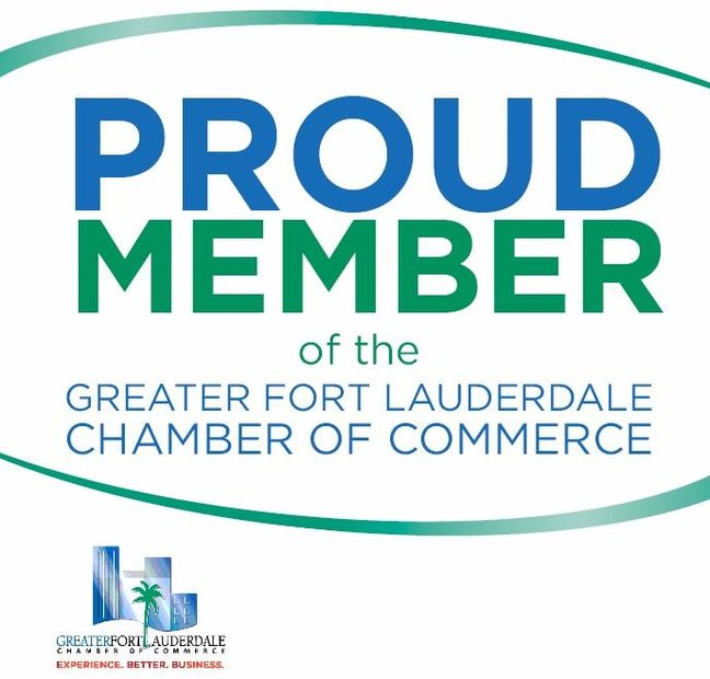 Proud member of the greater Fort Lauderdale chamber of commerce.