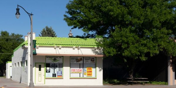 Commercial Main Street Business store location Scott City Kansas for sale