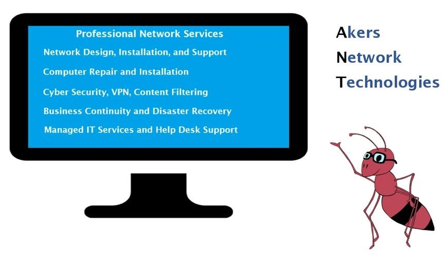 Network Design, Network Services, IT Services, Computer Repair, Cyber Security, VPN, Managed IT,