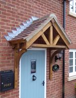 Oak 3 Spoke Porch - Oak gallow brackets.  We can make these to size. Email us with dimensions.