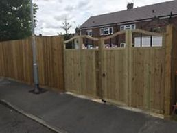 These gates were made for a specific opening and then customer fitted bifold hinge to maximize space