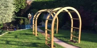 2 Double Arches made with joining beams to make a lovely feature walkway.