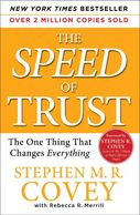 The Speed of trust by Stephen Covey. Book. Best seller