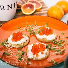 No doubt, the chum salmon caviar soft shell for sale on our site is delicious on sushi. However, it