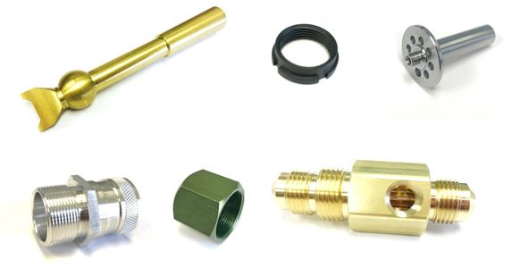 We machine brass, plastic, aluminum, stainless steel, steel, copper and much more.