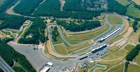 An aerial view of the Brands Hatch race circuit
