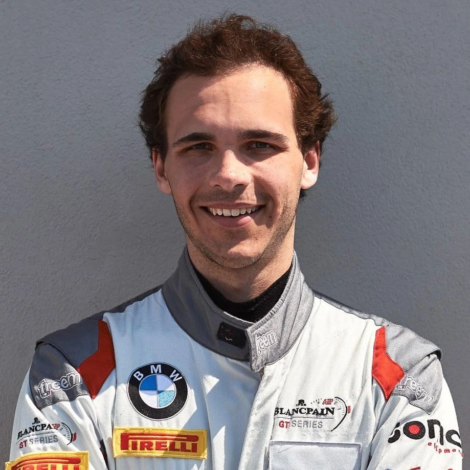 Immanuel Vinke photo wearing his race wear as part of car 22