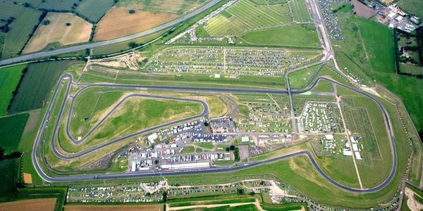 An aerial view of the Snetterton 300 race circuit