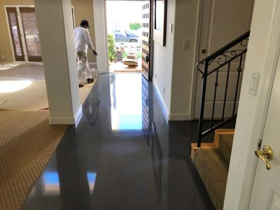 Some polished concrete flooring in Anaheim, CA