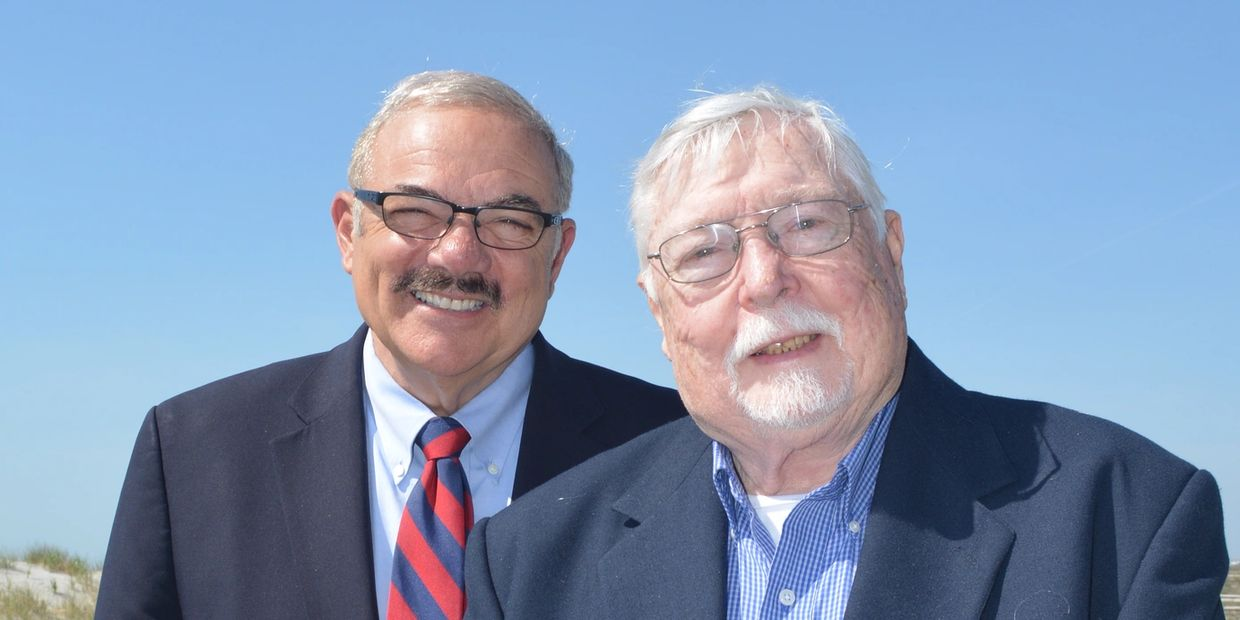 Image of Jim Plousis, US Marshal, and George Ingram, Freelance Writer, authors of Jersey Lawman.
