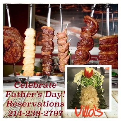 Father's Day Lunch - Father's Day Dinner - Villa's Grill & Brazilian Steakhouse in Dallas, TX