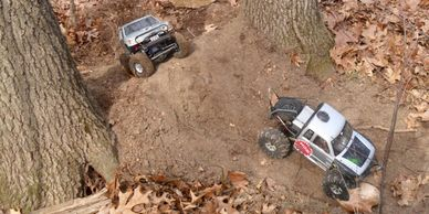 RC vehicle crawling course in Granger, IN at RC Fun Park