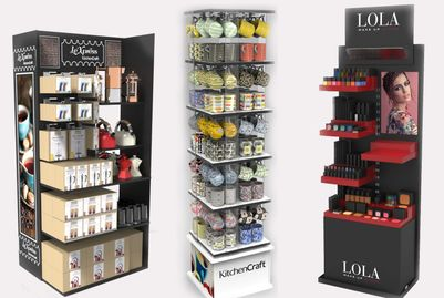 displayy stand pos sales makeup kitchen