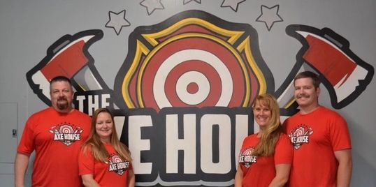 Axe Masters, Axe House, Trick shots, Axe Throwing in St. Louis, Axe Throwing