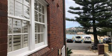 Painting facade restoration project in Baden St Coogee. Strata.