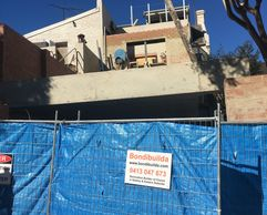 Building addition to terrace in Bondi Junction Syneys' Eastern Suburbs.
