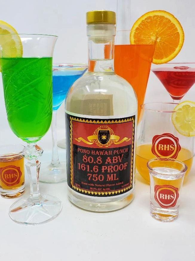 Photo image of Cocktails & Pono 80.8% Hawaii Punch crafted by RHS Royal Hawaii Spirits Distillery