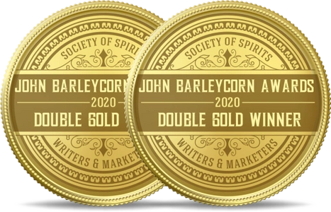 John Barley Corn Double Gold Winner Golden Medals image awarded to RHS  Uncle Karl Willy Wonka