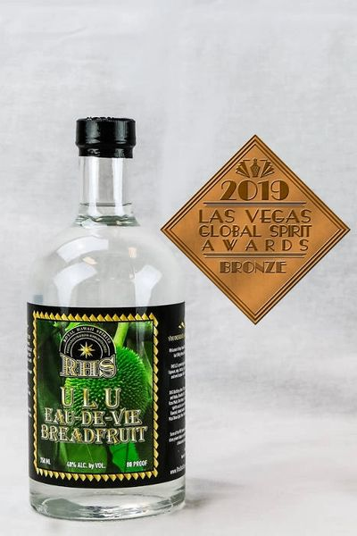 Ulu Eau de Vie bronze medal from Las Vegas Global Spirit Awards