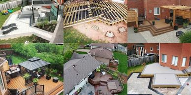 This image has an deck and landscape projects at different stages in Toronto, Ontario by builder PVD