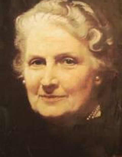 Portrait of Maria Montessori