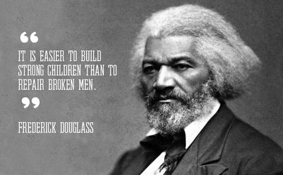 Frederick Douglass image and quote