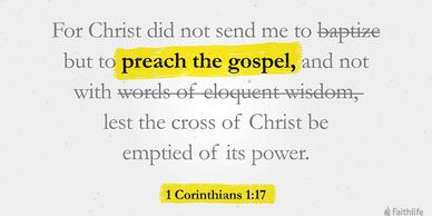 Preach the Gospel in the power of the Messiah(Christ)'s Cross.