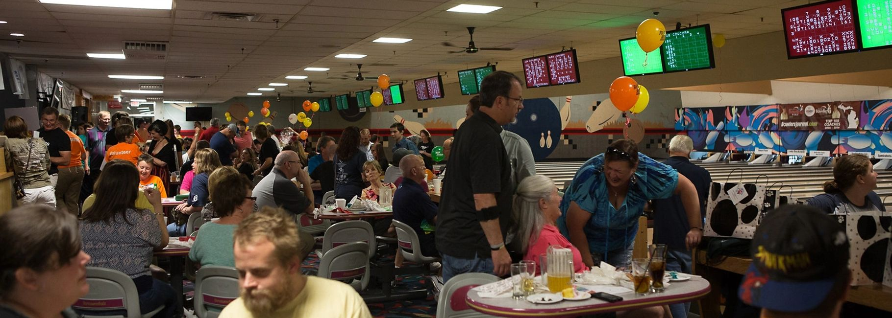 A party at our bowling party venue located near Livonia, MI