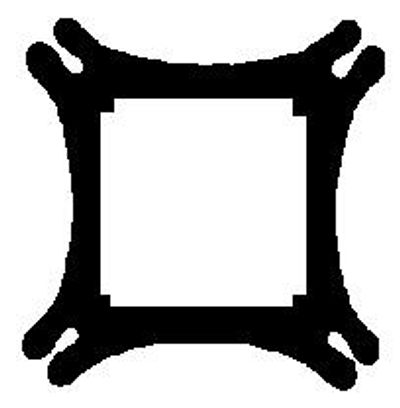 FIHANKRA - Adinkra symbol for a house of security, safety & unity.