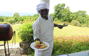 Chef of food tour in Ocho Rios