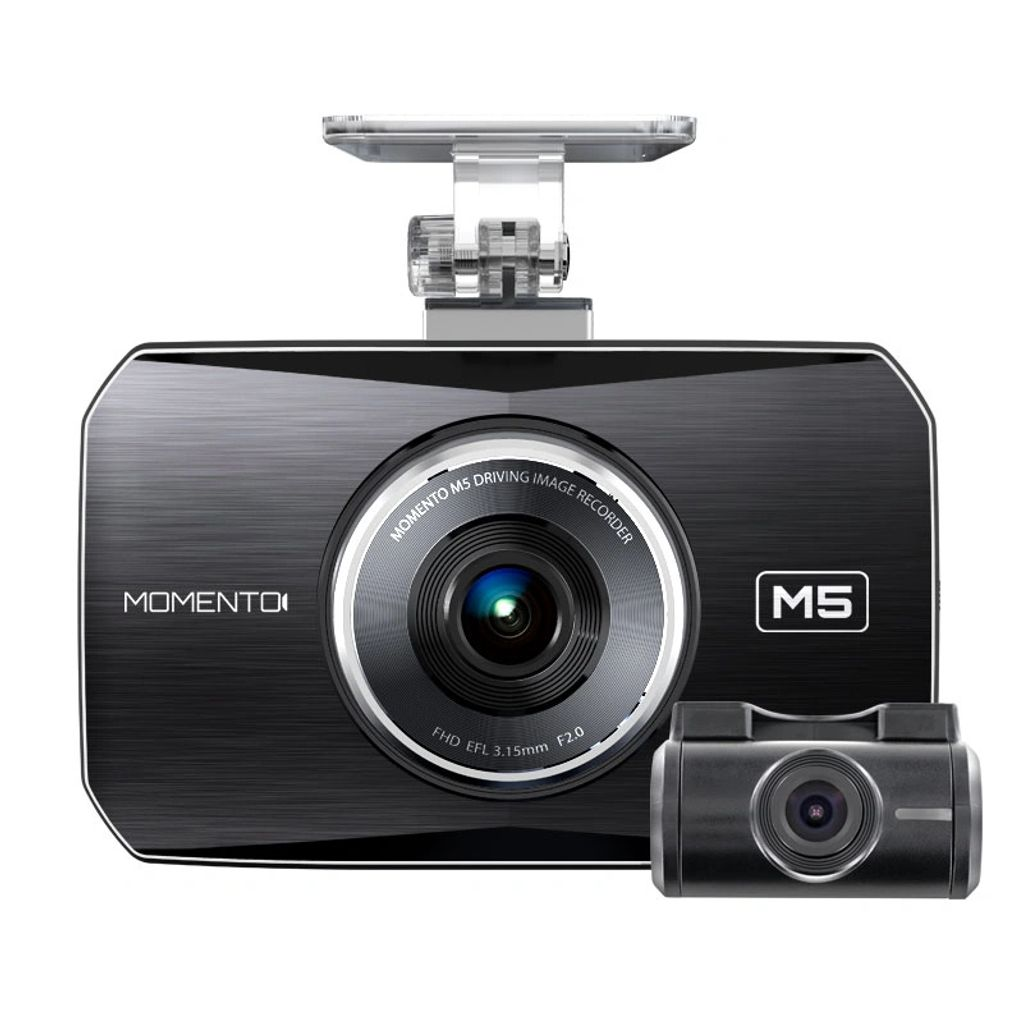 Momento M5 Dash camera front and back