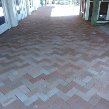 Our masonry crew can layout perfect patterns in any shape or size brick or paver