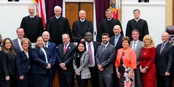 Florida Supreme Court and 2020 Florida Bar honorees.