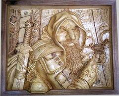 Dwarven Rogue - Woodcarvings by Randall Stoner, aka Madcarver